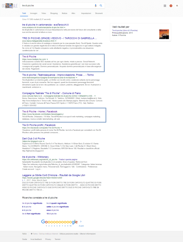 SERP (Search Engine Result Page)